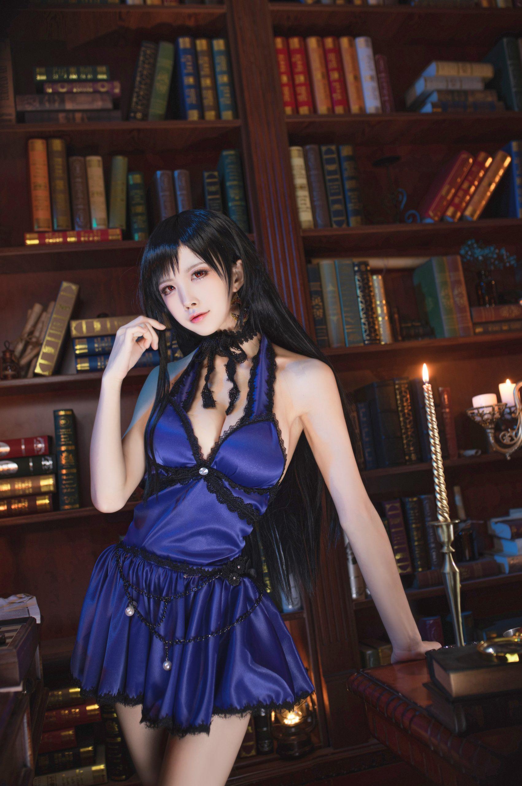 Final Fantasy VII Tifa Lockhart Night Dress Cosplay by Aqua Quite Inviting 16