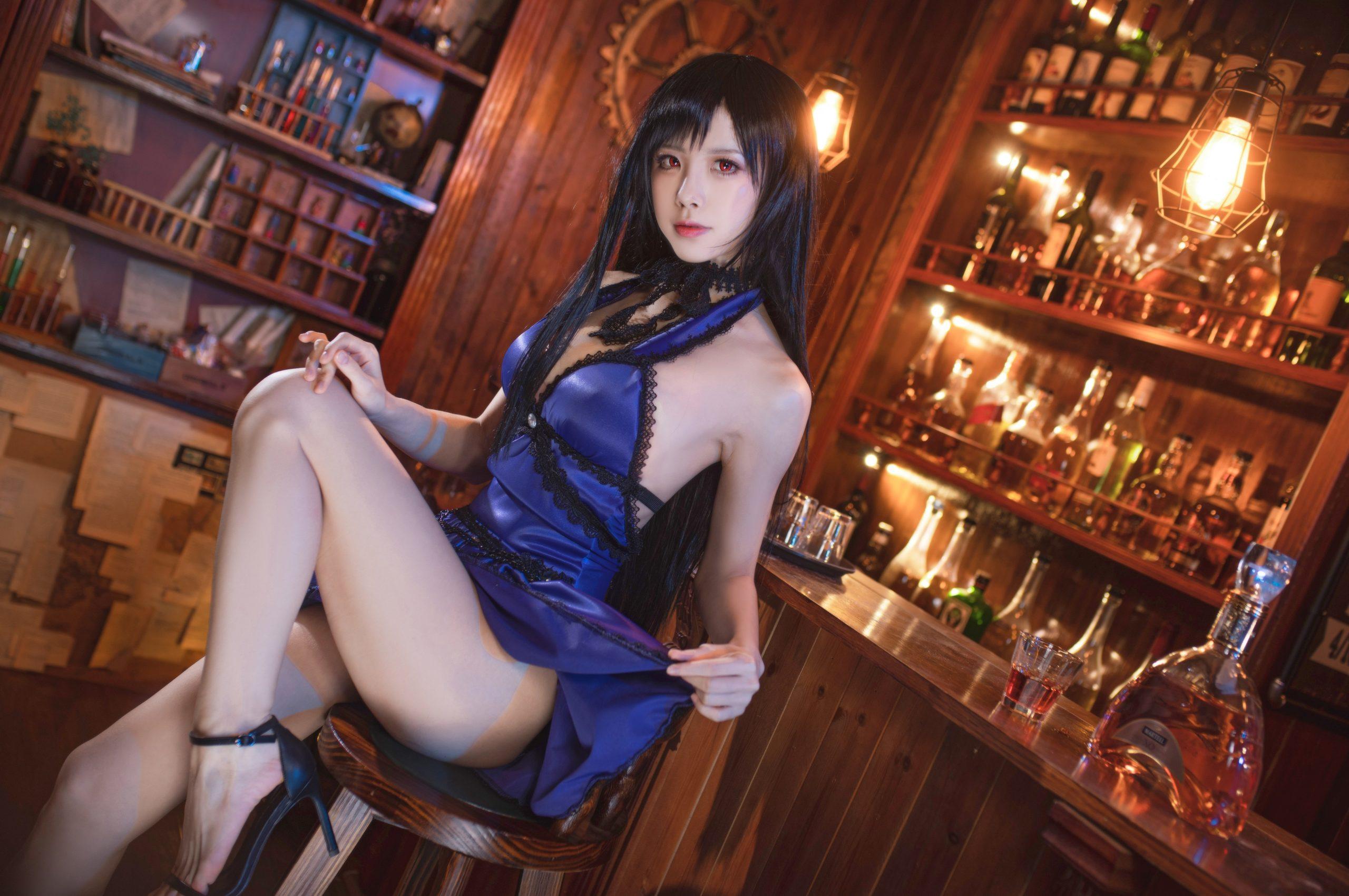 Final Fantasy VII Tifa Lockhart Night Dress Cosplay by Aqua Quite Inviting 24