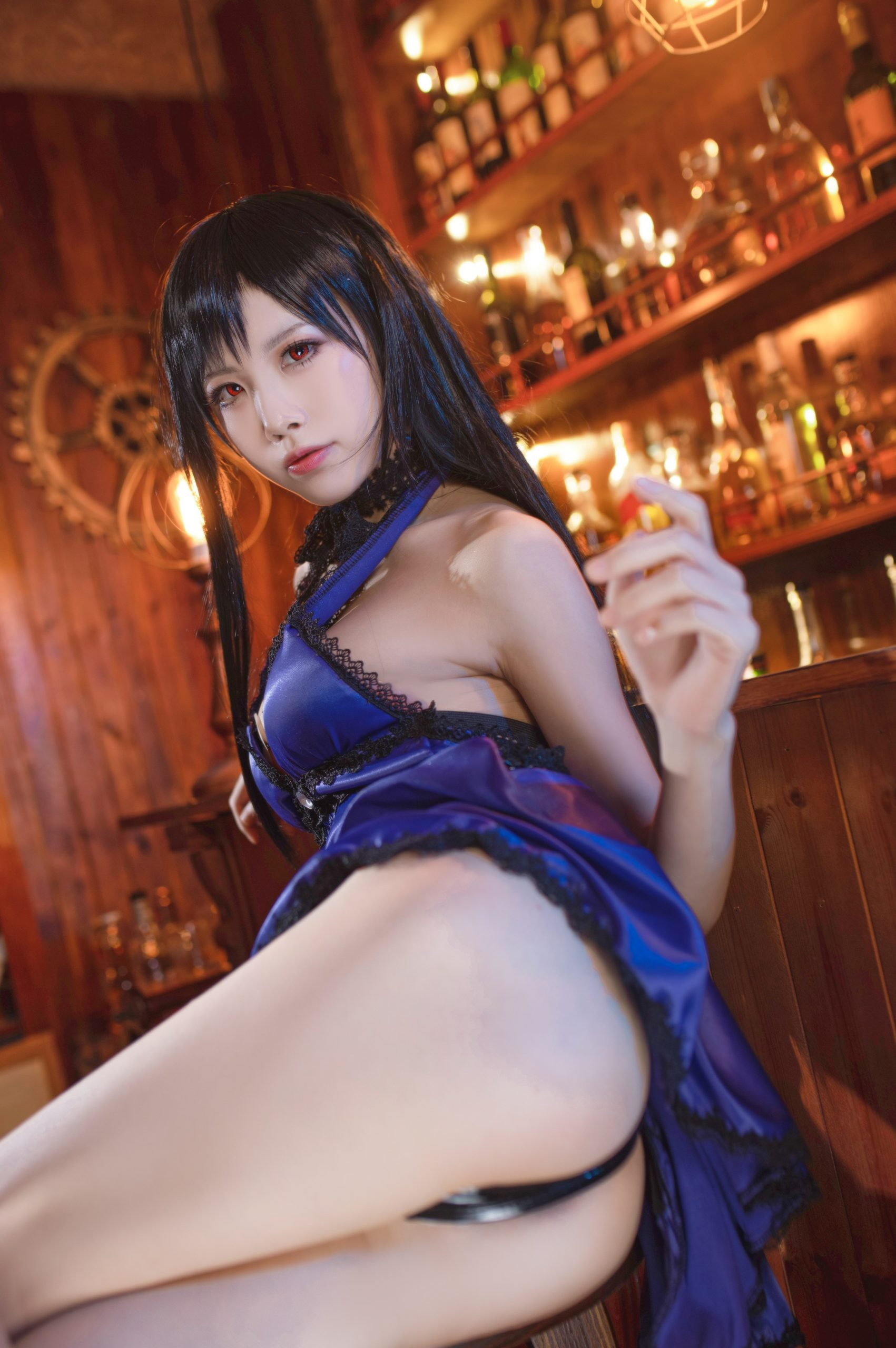 Final Fantasy VII Tifa Lockhart Night Dress Cosplay by Aqua Quite Inviting 28