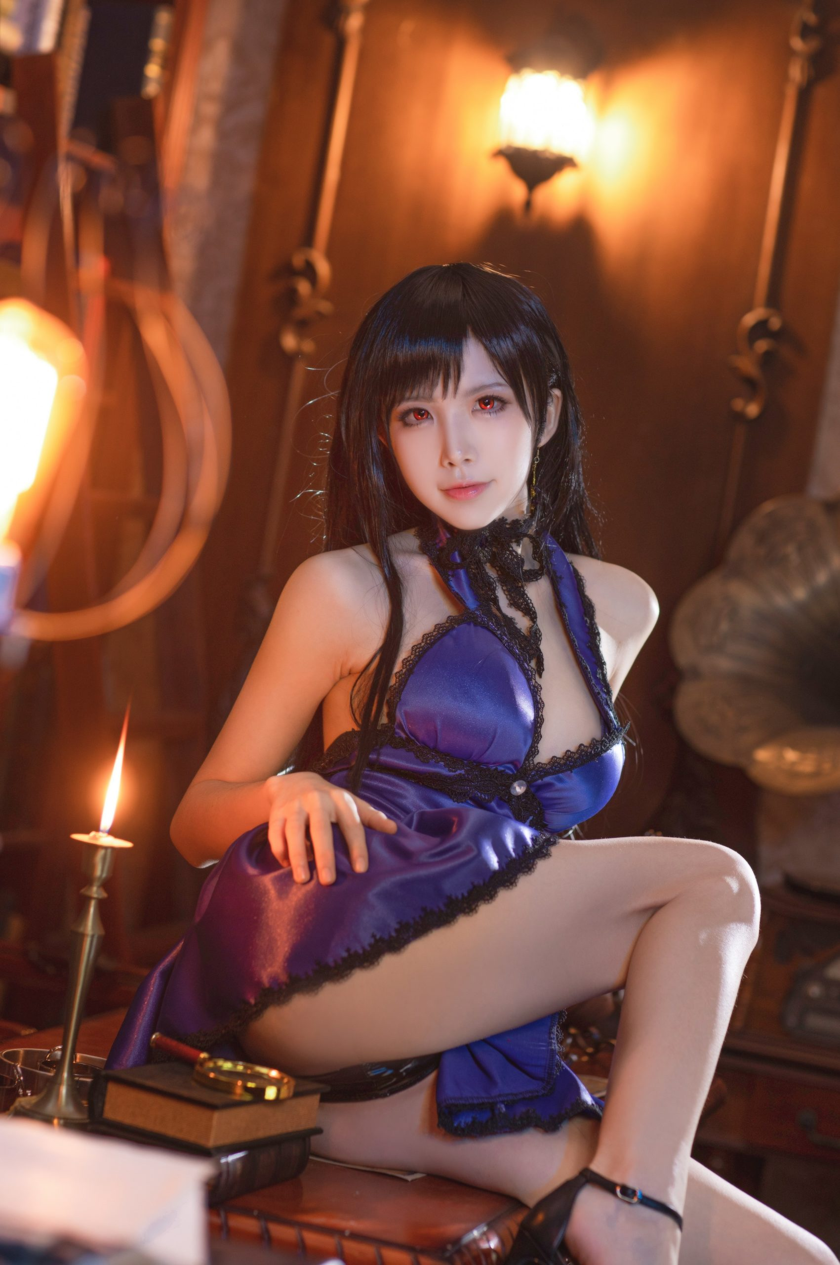 Final Fantasy VII Tifa Lockhart Night Dress Cosplay by Aqua Quite Inviting 33