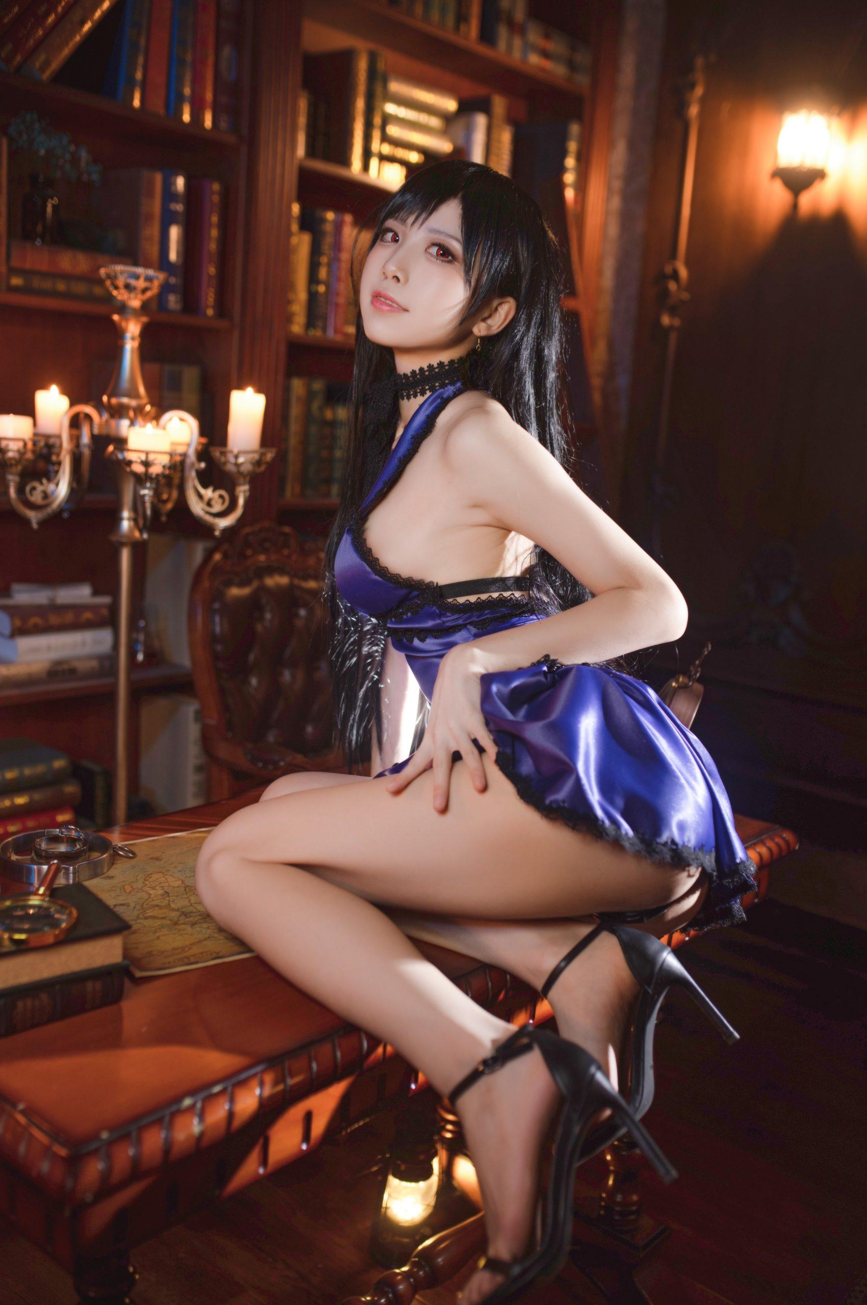 Final Fantasy VII Tifa Lockhart Night Dress Cosplay by Aqua Quite Inviting 8