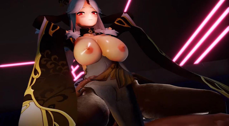 Rosaria Ningguang Duo Sex EroMMD 21