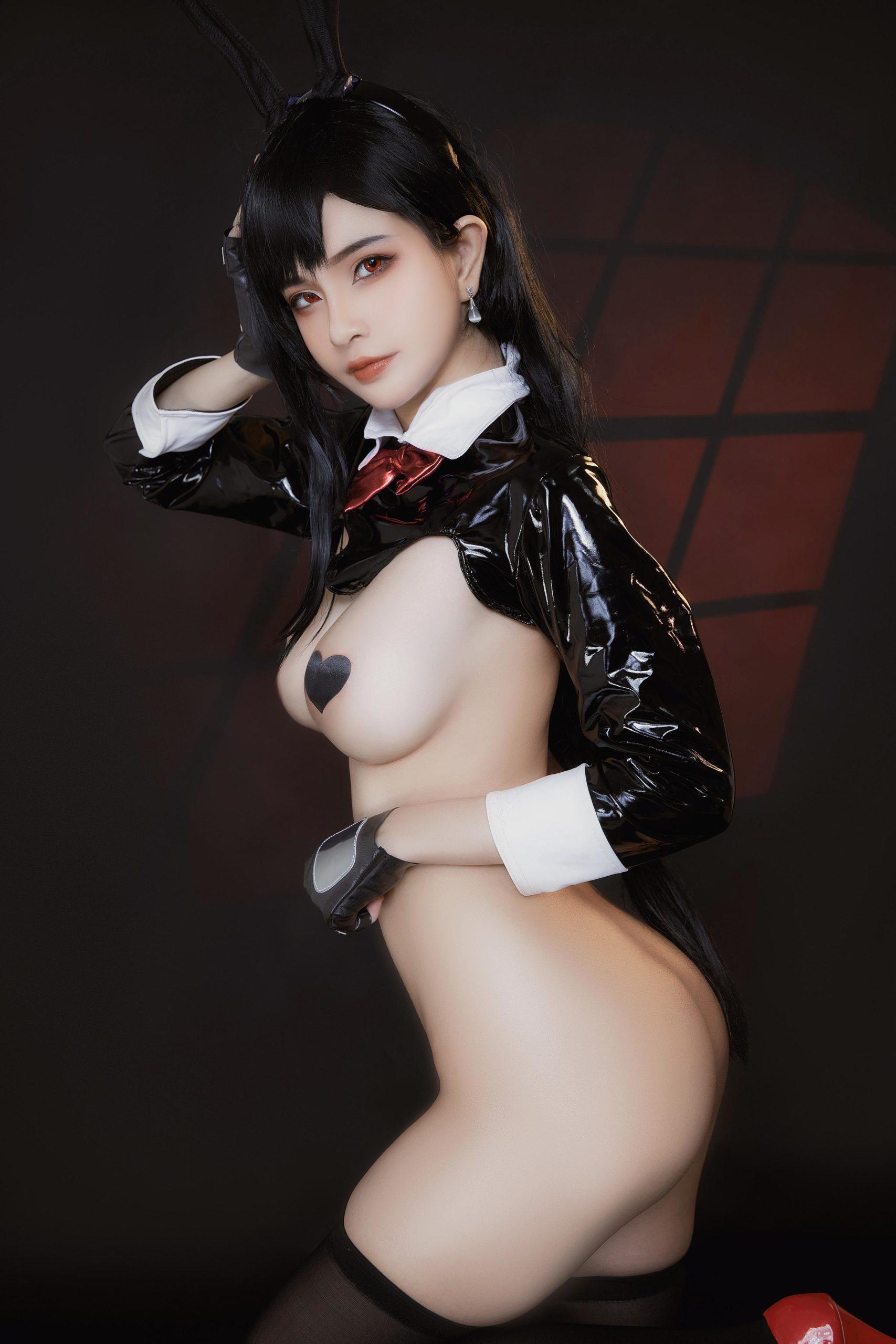 TifaLockhart Bunny Girl EroCosplay by Azami 13