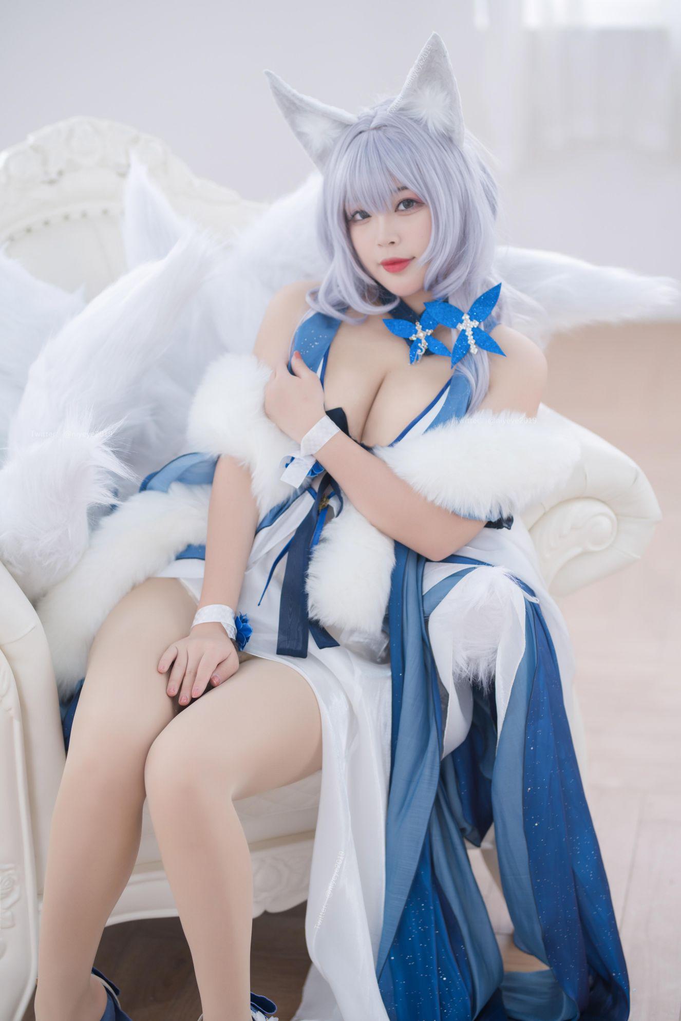 Azur Lane Shinano Cosplay by Bai Ye Extra Enticing Inviting 44
