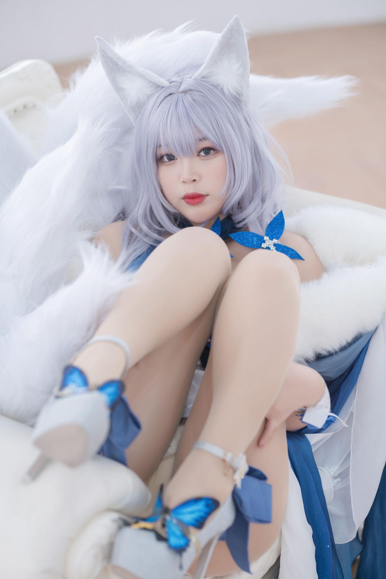 Azur Lane Shinano Cosplay by Bai Ye Extra Enticing Inviting 51