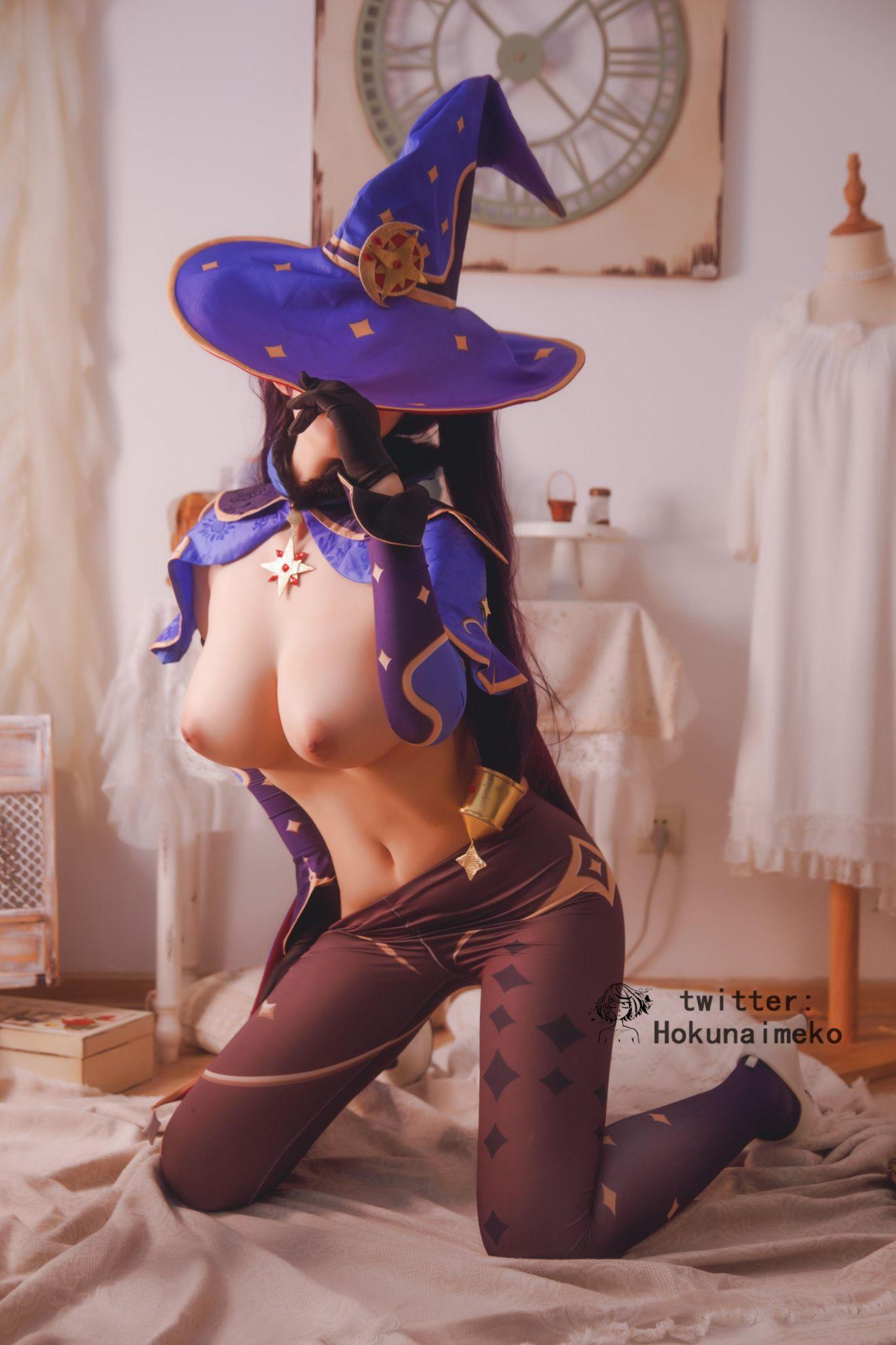 GenshinImpact Mona EroCosplay by Hokunaimeko 17