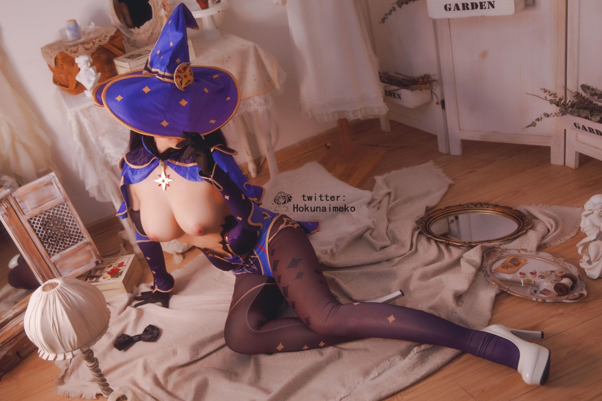 GenshinImpact Mona EroCosplay by Hokunaimeko 3