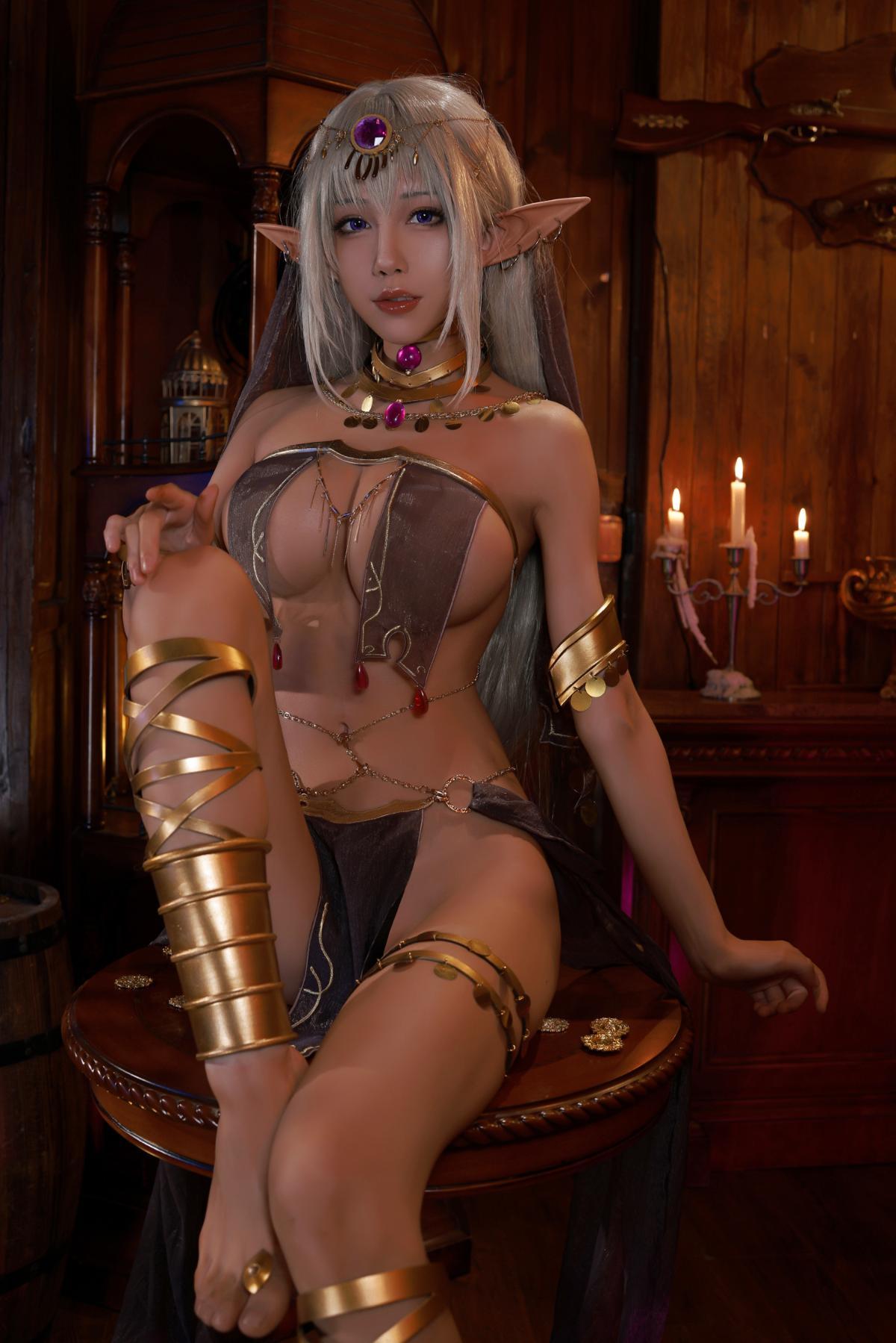 Tan Dancer Elf Succubus Cosplay by Aqua 1