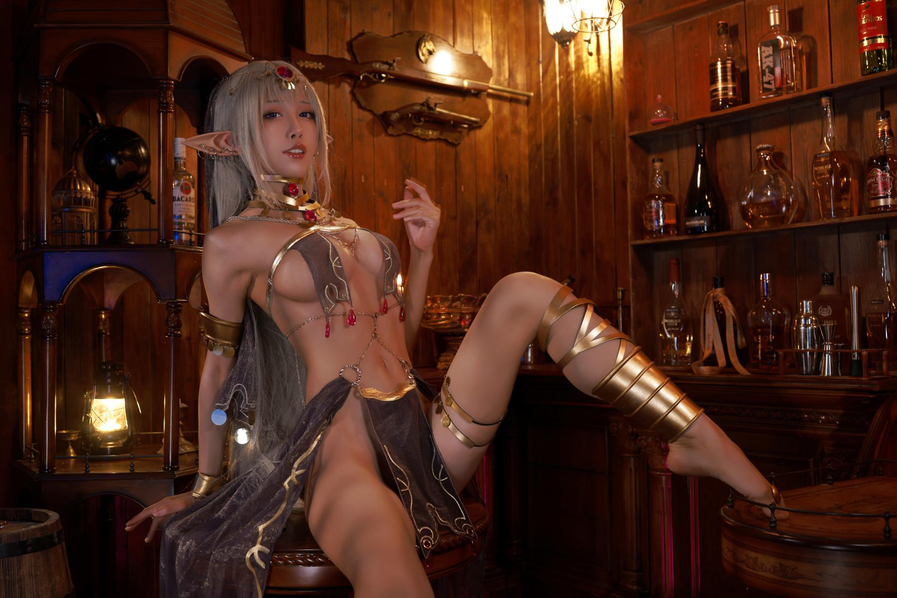 Tan Dancer Elf Succubus Cosplay by Aqua 13