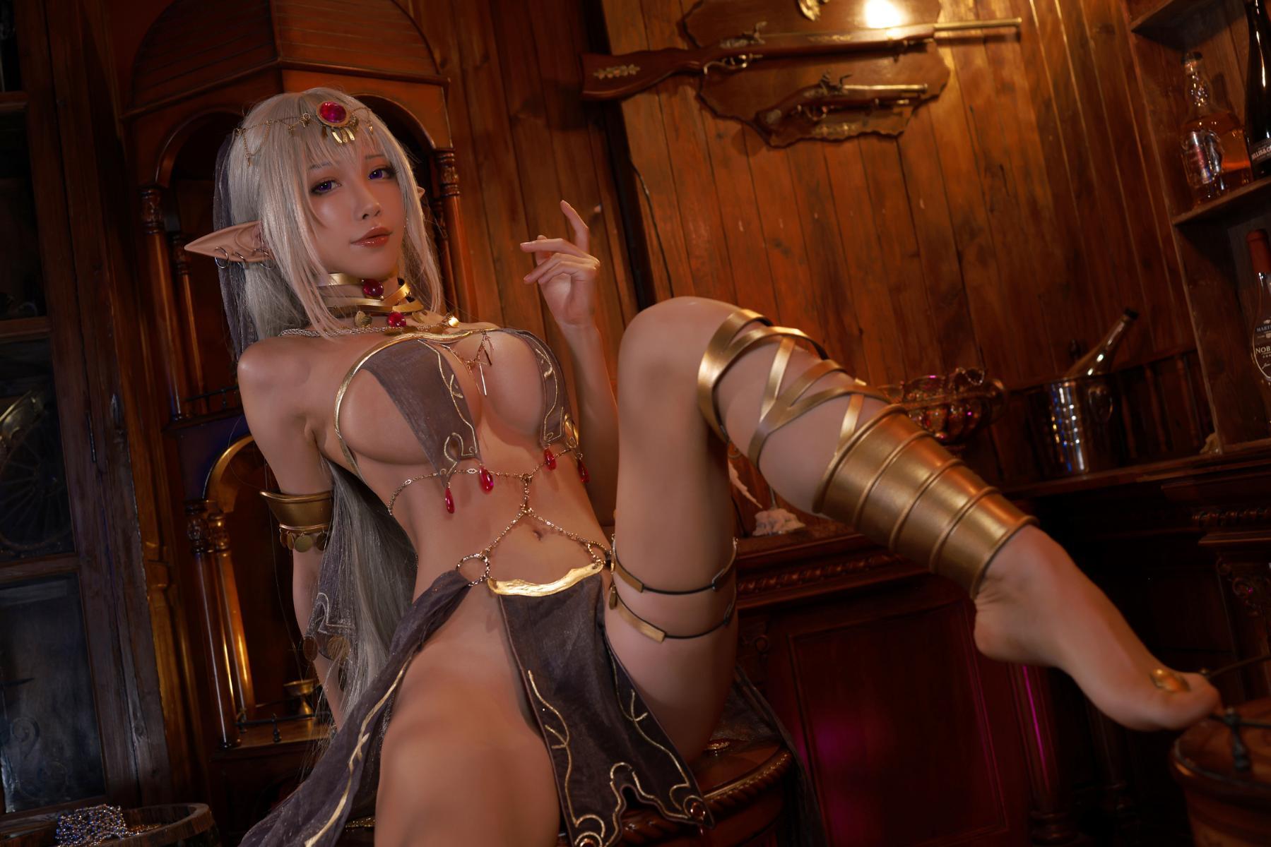 Tan Dancer Elf Succubus Cosplay by Aqua 14