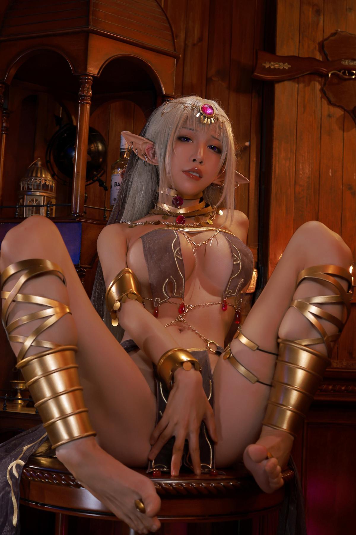 Tan Dancer Elf Succubus Cosplay by Aqua 17