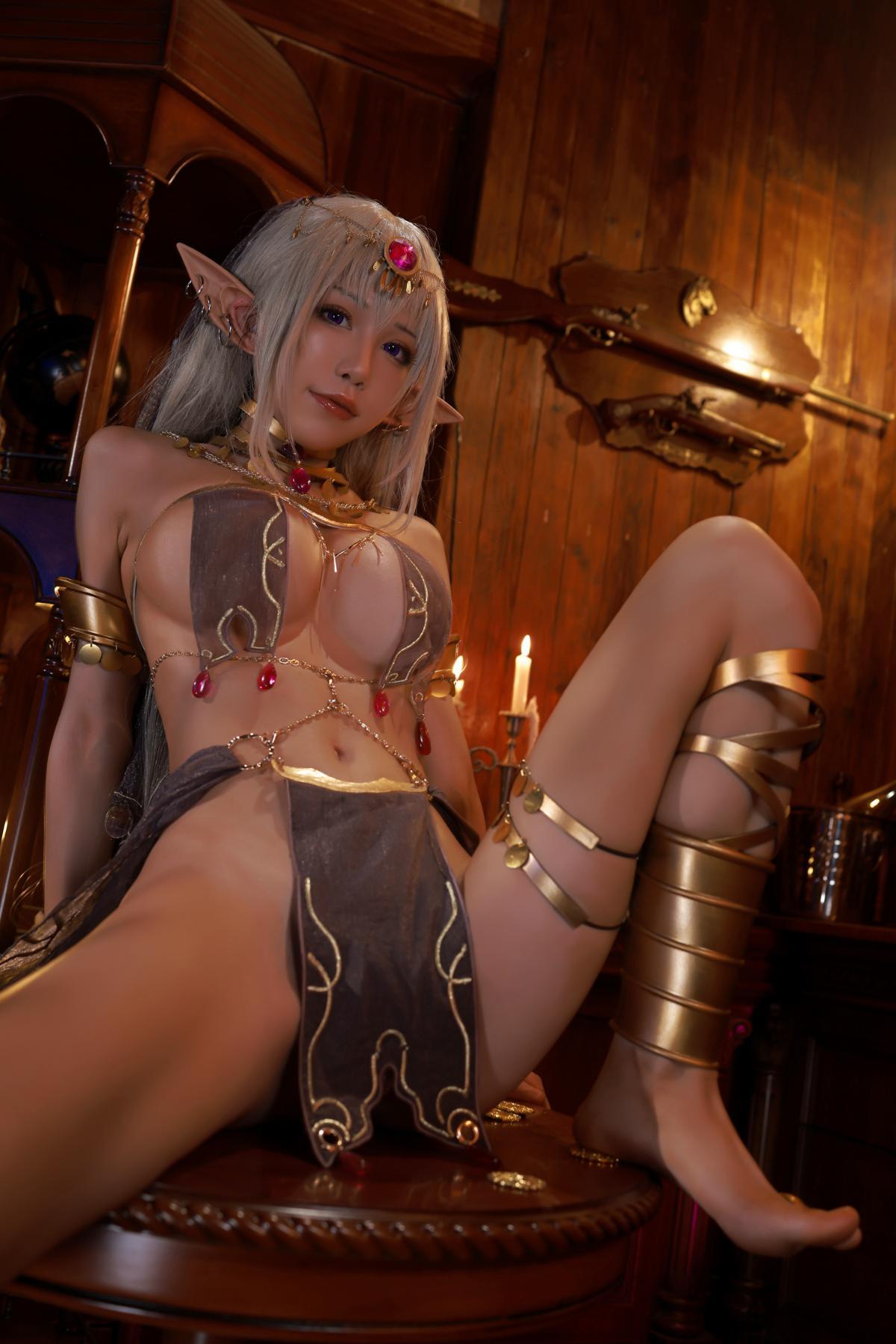 Tan Dancer Elf Succubus Cosplay by Aqua 18