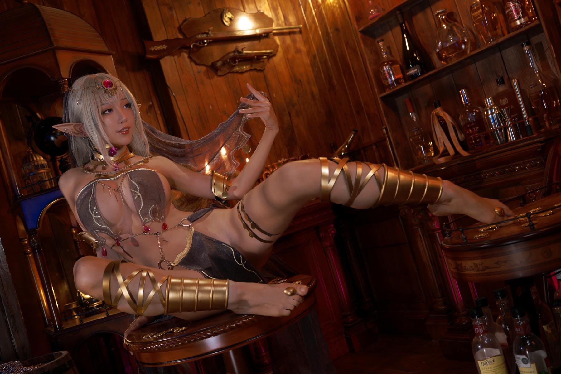 Tan Dancer Elf Succubus Cosplay by Aqua 20
