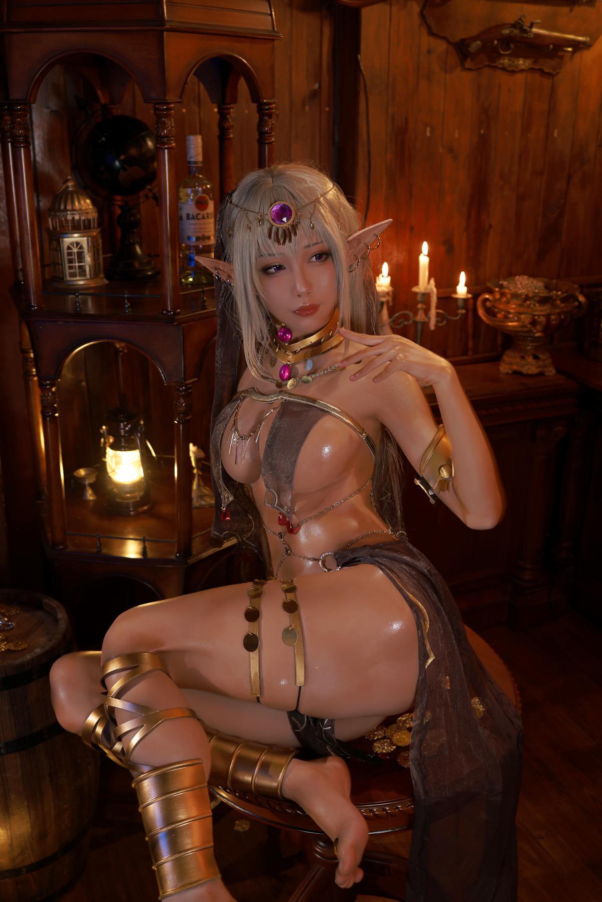 Tan Dancer Elf Succubus Cosplay by Aqua 22