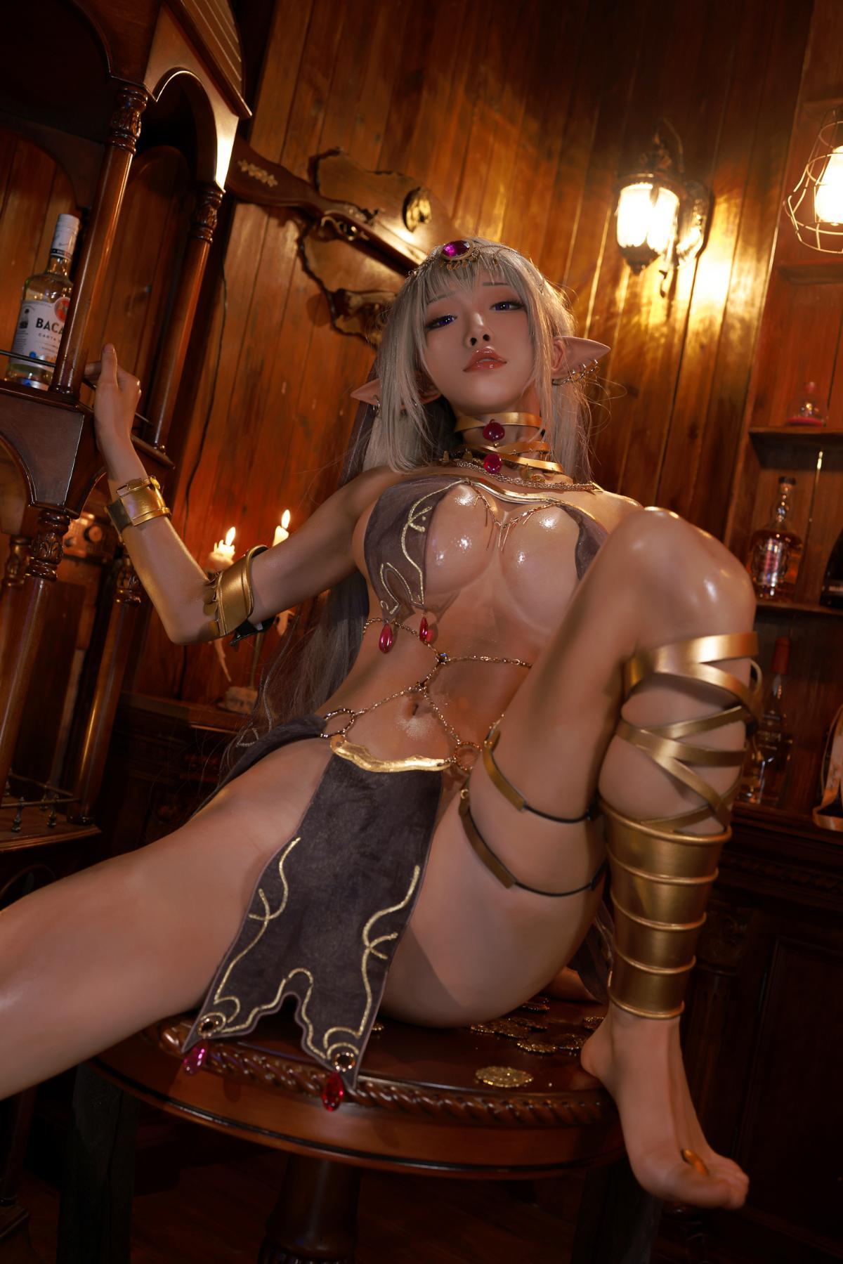 Tan Dancer Elf Succubus Cosplay by Aqua 23
