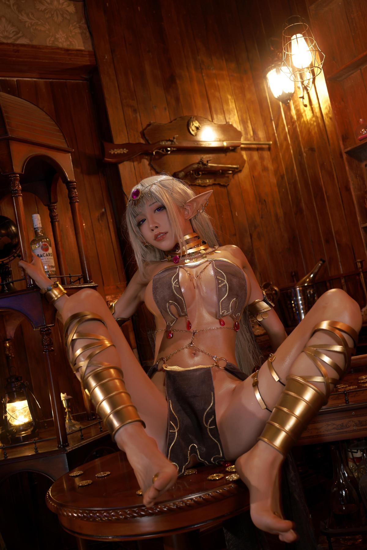 Tan Dancer Elf Succubus Cosplay by Aqua 25