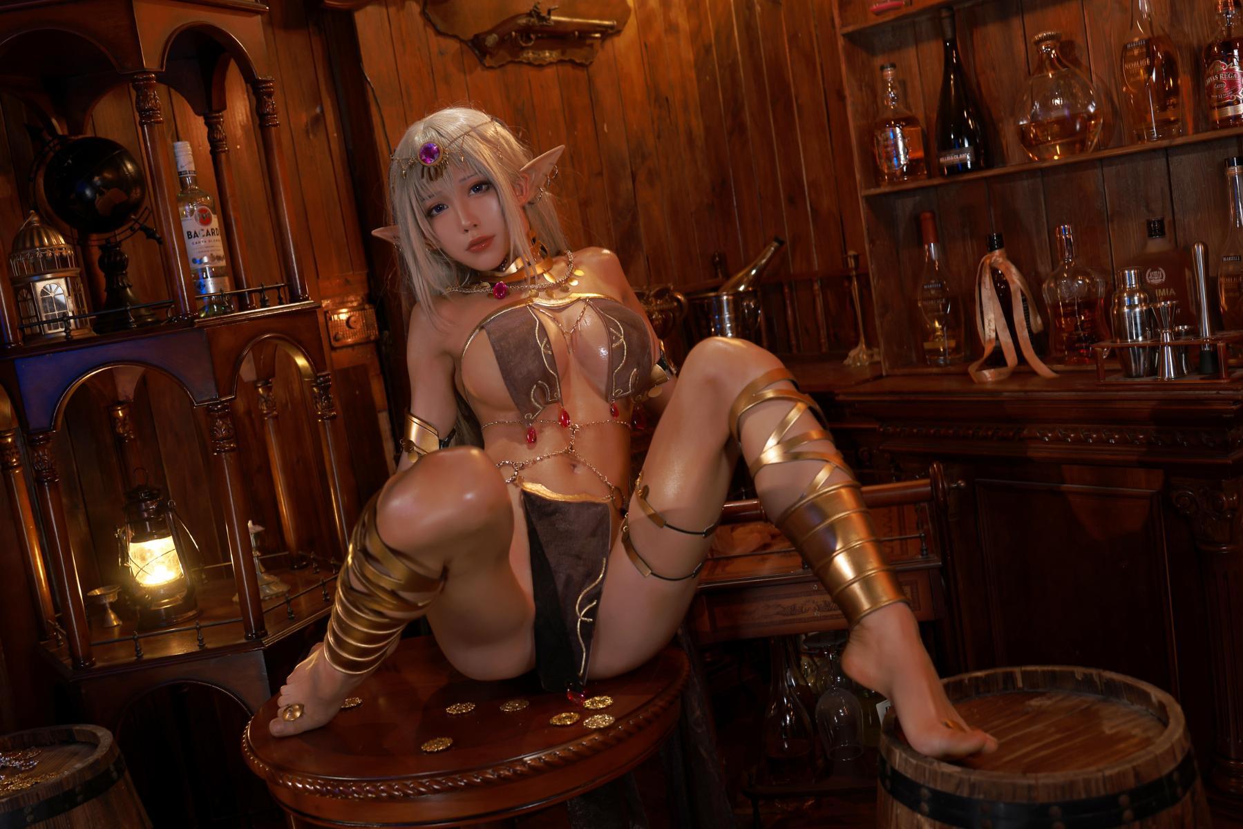 Tan Dancer Elf Succubus Cosplay by Aqua 26