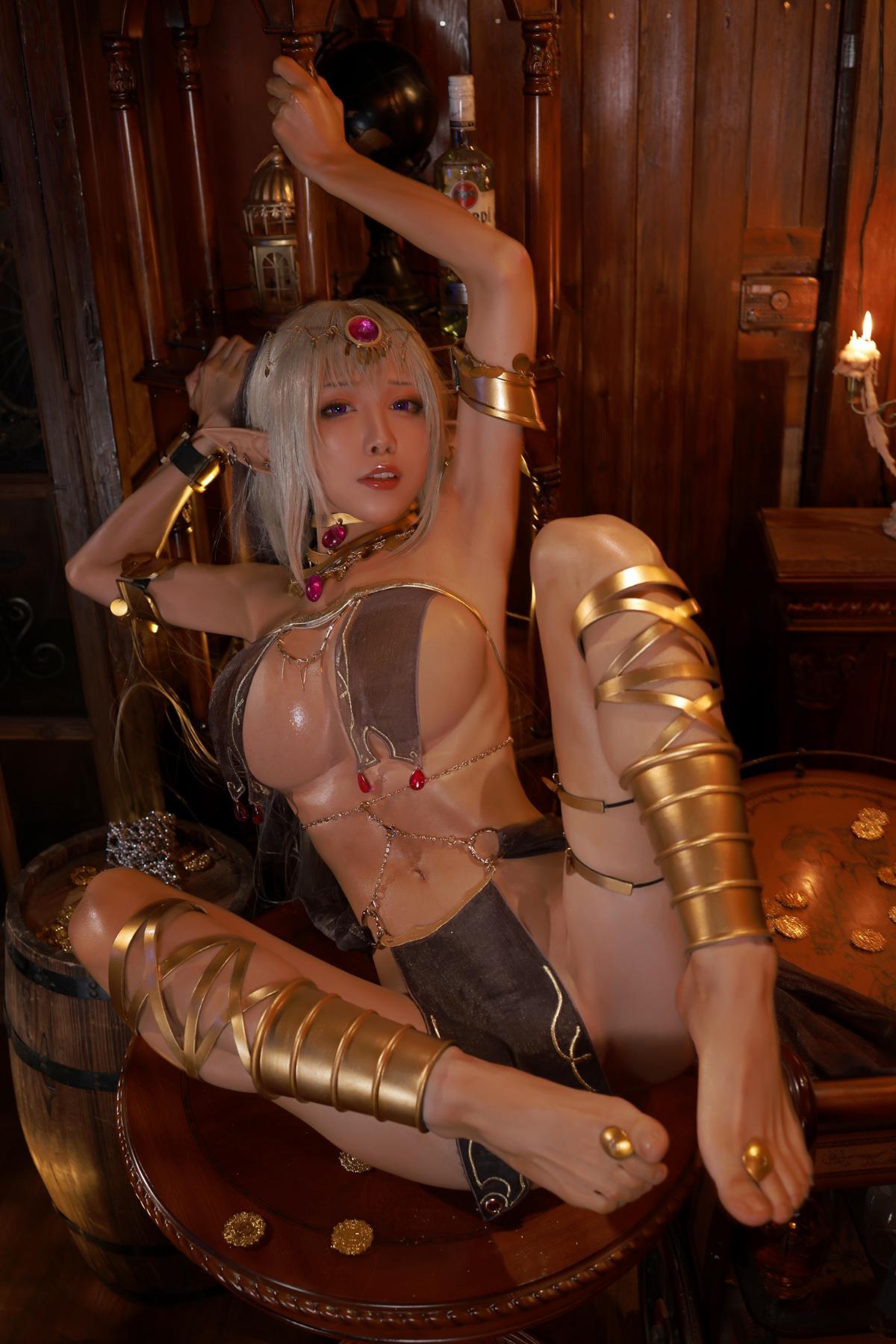 Tan Dancer Elf Succubus Cosplay by Aqua 29