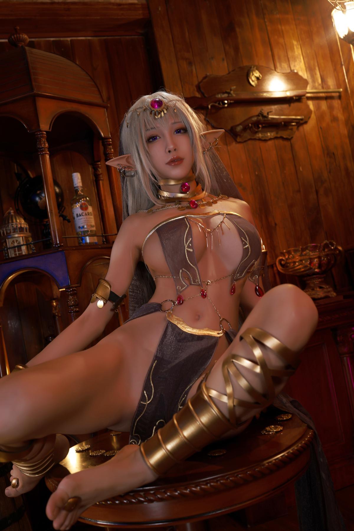 Tan Dancer Elf Succubus Cosplay by Aqua 3