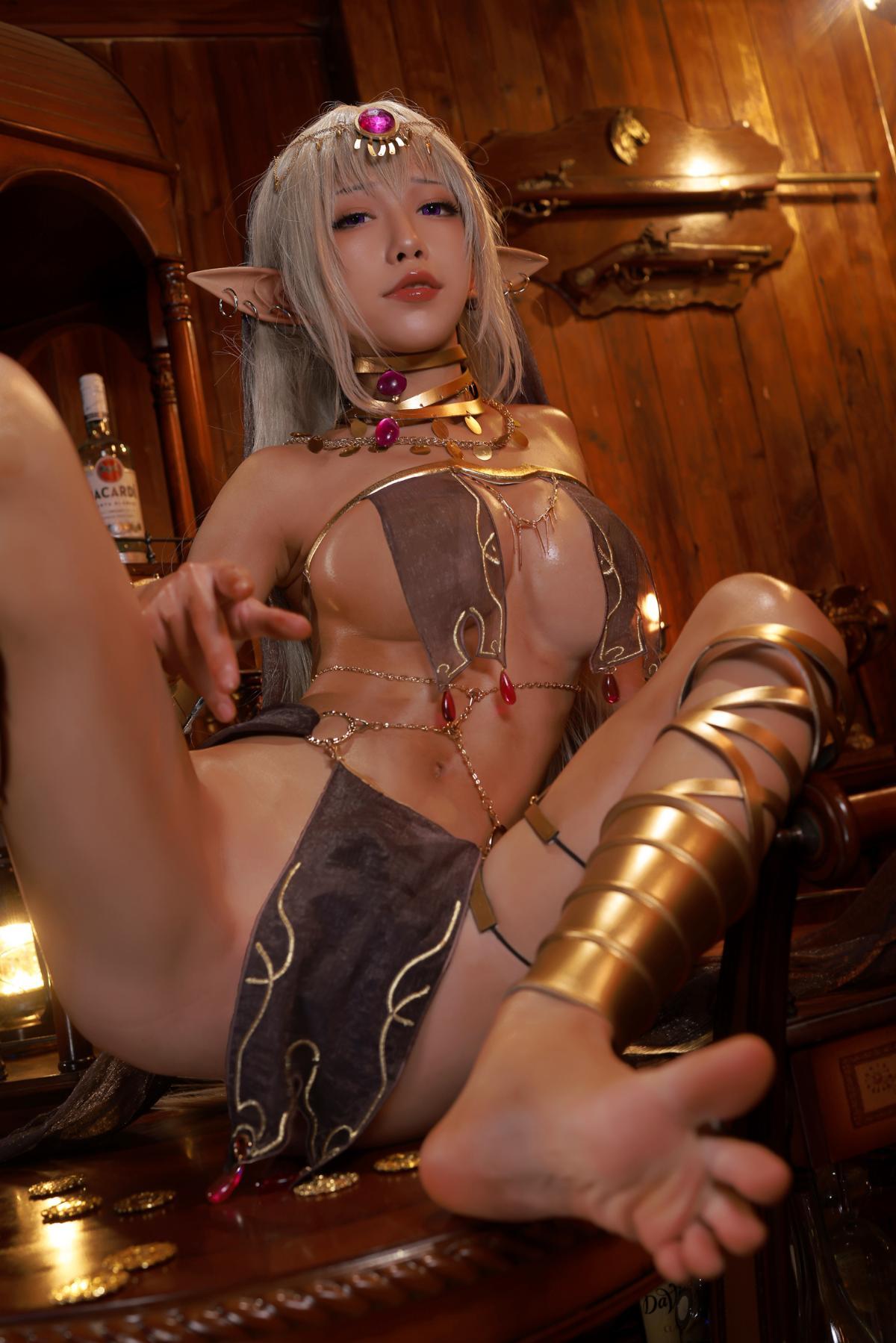 Tan Dancer Elf Succubus Cosplay by Aqua 32