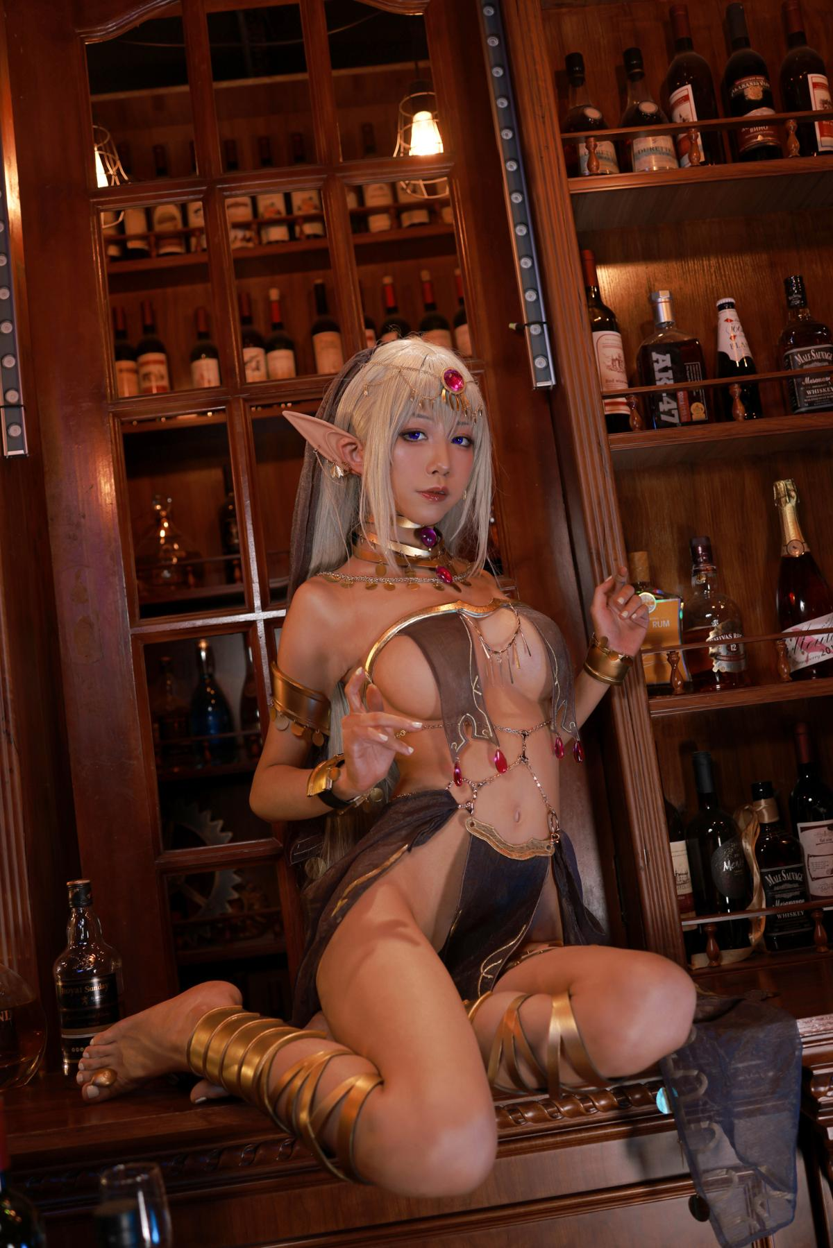 Tan Dancer Elf Succubus Cosplay by Aqua 34