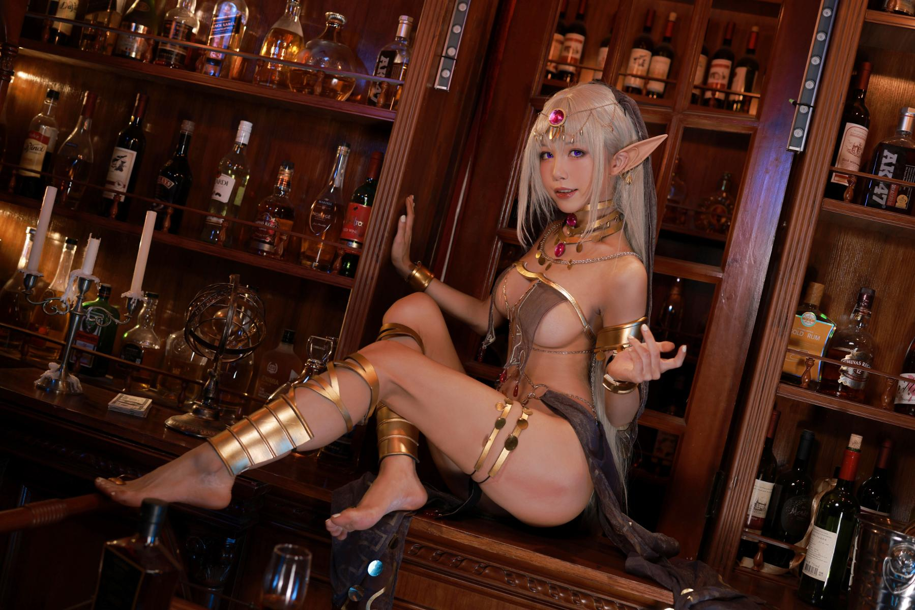 Tan Dancer Elf Succubus Cosplay by Aqua 36
