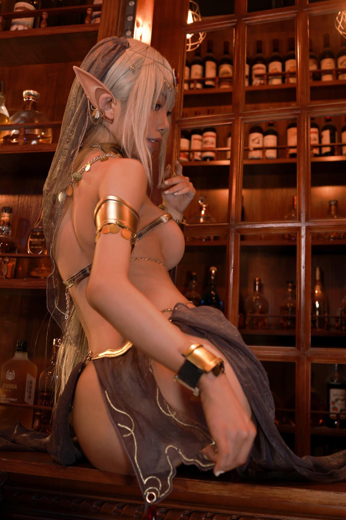 Tan Dancer Elf Succubus Cosplay by Aqua 38
