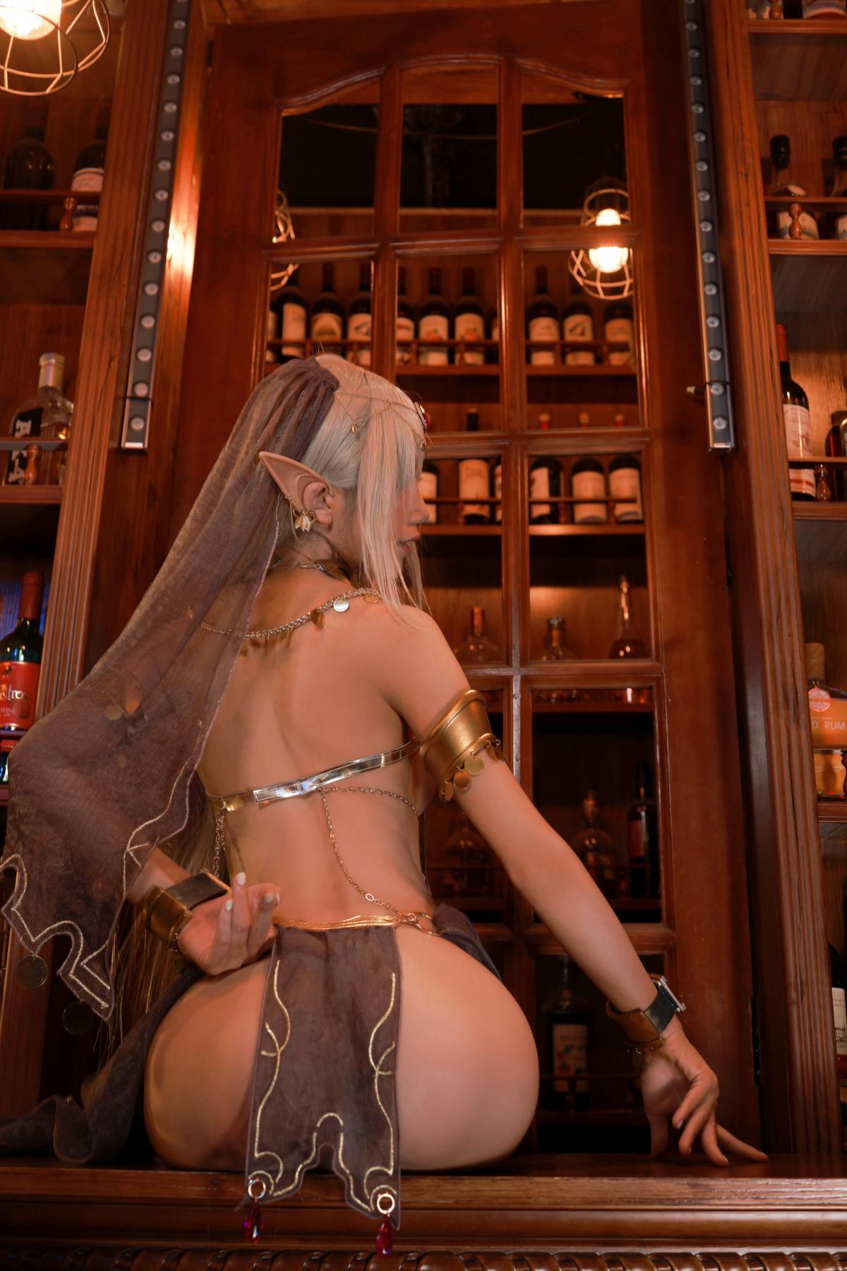 Tan Dancer Elf Succubus Cosplay by Aqua 39