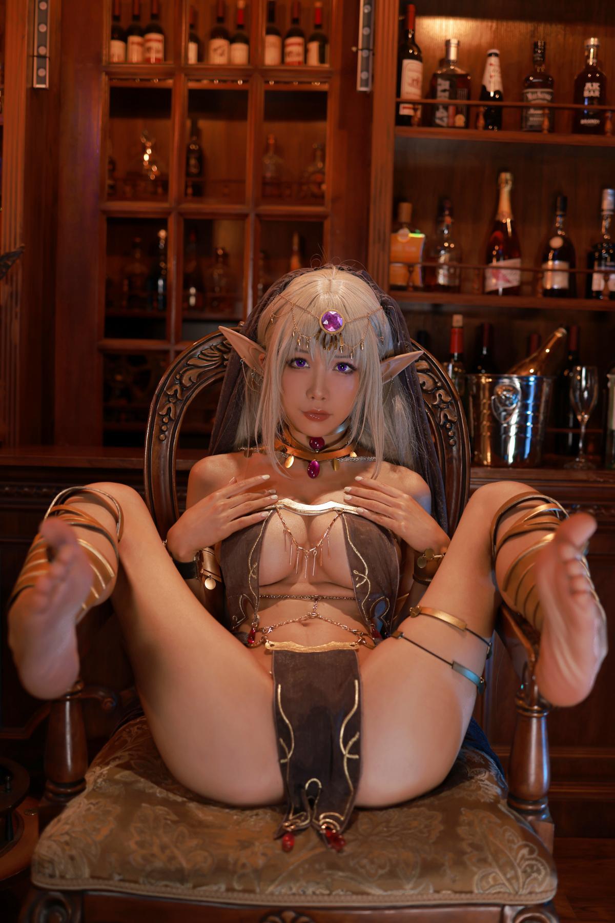 Tan Dancer Elf Succubus Cosplay by Aqua 45
