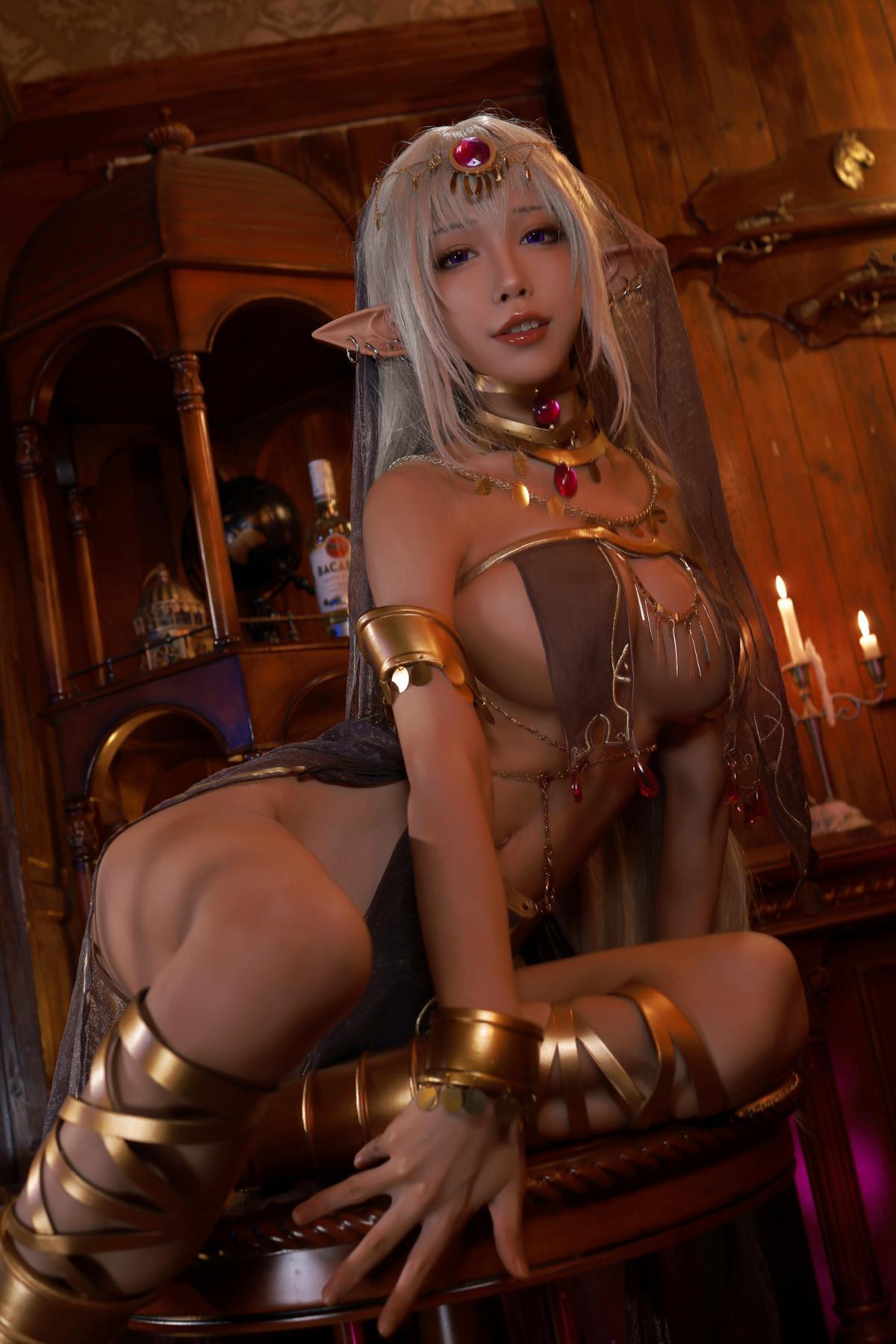 Tan Dancer Elf Succubus Cosplay by Aqua 7
