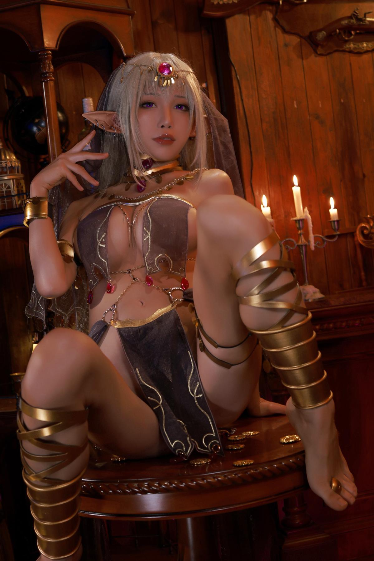Tan Dancer Elf Succubus Cosplay by Aqua 8